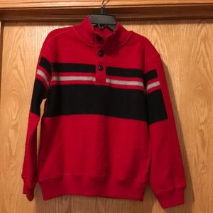 New Chaps boy's size 6 red warm high neck shirt